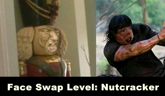 rambo face swap level nussknacker nutcracker funny photoshop