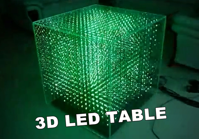 infinity mirror art 3d led table kurioses weltweit. Black Bedroom Furniture Sets. Home Design Ideas