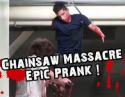 Epic Chainsaw Massacre Prank im Parkhaus
