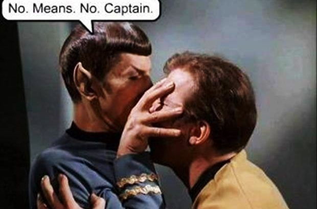 nein heist nein captain no means no captainm kirk
