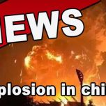 Tianjin China - Heftige Chemikalien Explosion stürzt die Stadt ins Chaos