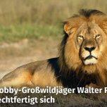 Cecil Hobby-Großwildjäger Walter P. rechtfertigt sich
