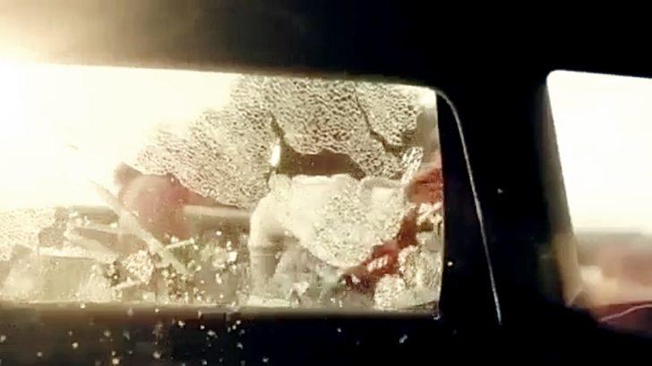 mädchen schlagen autoscheibe ein hund aus auto gerettet