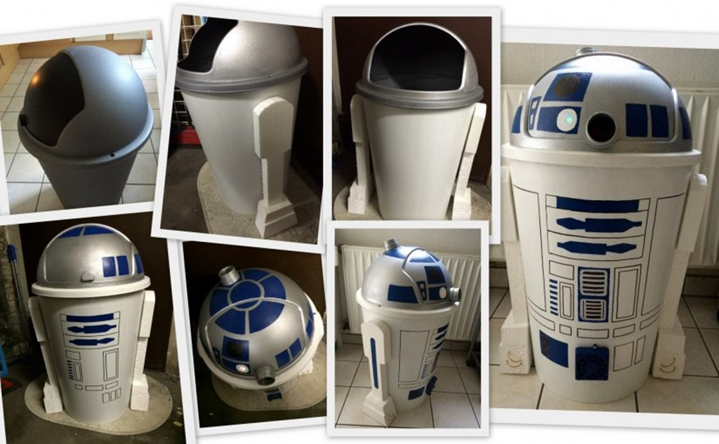 Star Wars R2D2 Vom kleinen Mülleimer zum Droiden