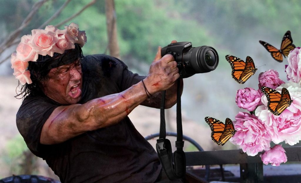Rambo Butterfly – Fun with Photoshop