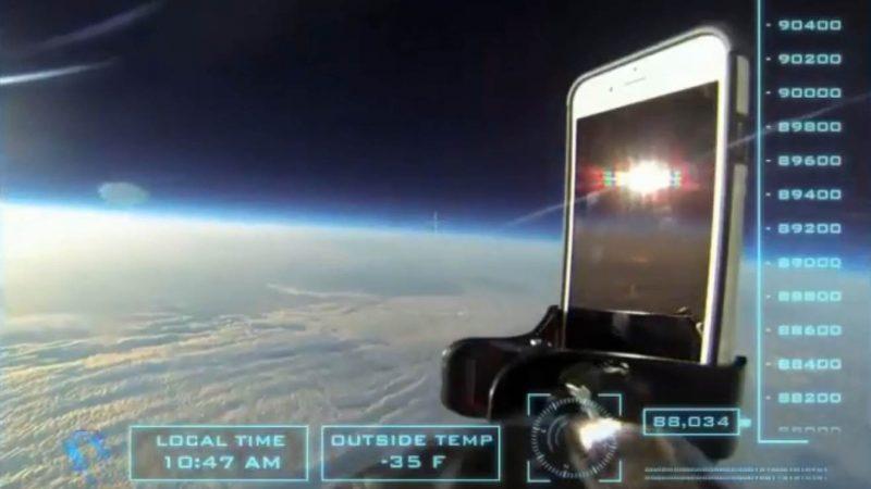 iPhone fällt von Stratosphäre auf die Erde
