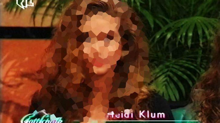 So sah Heidi Klum damals bei ihrem ersten TV Auftritt aus 1992 unscharf