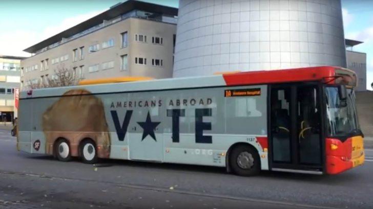 Dänemark Trolled Trump mit einem Bus. Lustig wenn sich der Bus bewegt
