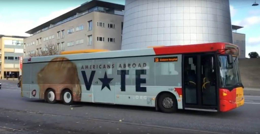 Daenemark Trolled Trump mit einem Bus. Lustig wenn sich der Bus bewegt