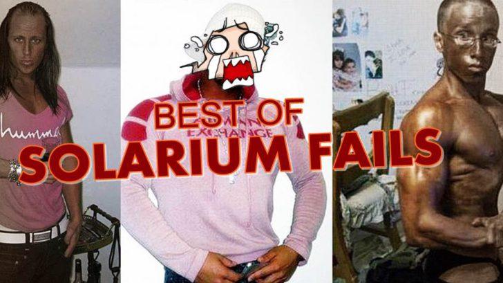 solarium fail extrem möchtegern schönling hässlich wie die nacht bodybuilder bräunungscreme kotzbrocken-horz titel