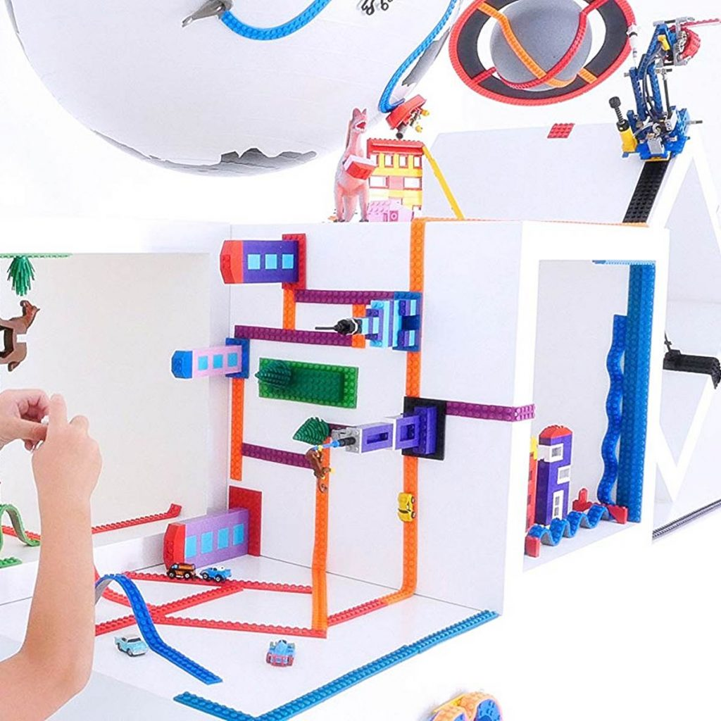 Lego Band Legoband verwandelt sich jede Oberfläche in einen passenden Untergrund für alle Spielzeugbausteine führender Marken einschließlich LEGO