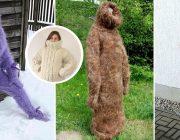 Winter Strickmode XXL Extreme Pullis aus Wolle für Frostbeulen Catsuit aus Baumwolle